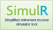 SimulR.  Simplified retirement income simulator tool.  Calculate, compare, save.