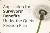 Take advantage of our on-line application for survivor's benefits.